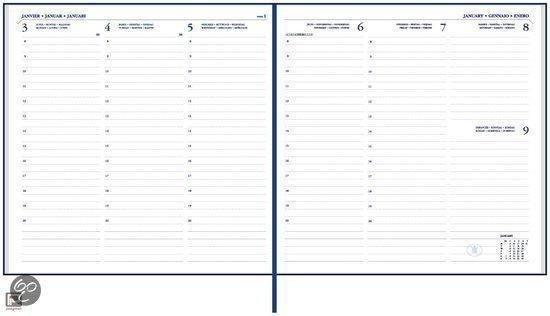 Afbeelding van Bureau Agenda 2021 - Ryam  Carre ZWART (17cmx17cm)