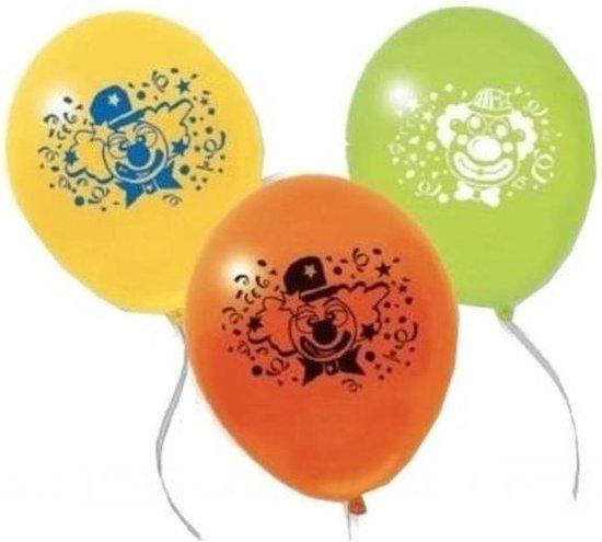 Pegaso Ballonnen Clown Met Confetti 10 Stuks