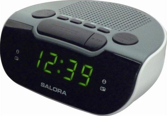 Salora CR612 - Wekkerradio - AM - FM - Dubbele wektijden