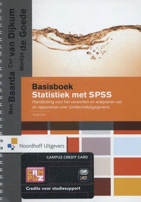 Basisboek statistiek met SPSS - Ben Baarda |