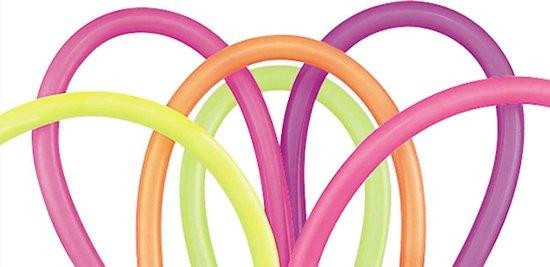 Modelleerballonnen Kleurenmix Neon 260q - 100 stuks