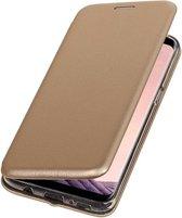 BestCases.nl Goud Premium Folio leder look booktype smartphone hoesje voor Samsung Galaxy S8