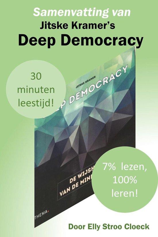 Boek cover Organisatiecultuur collectie - Samenvatting van Jitske Kramers Deep Democracy van Elly Stroo Cloeck (Onbekend)