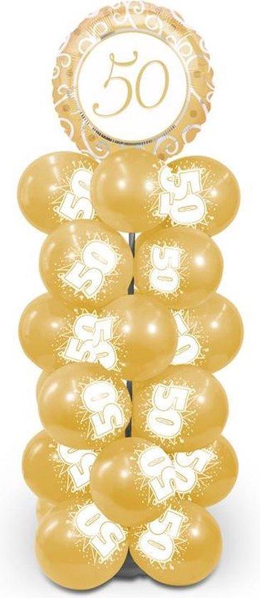 Spiksplinternieuw bol.com | Ballonpilaar 50 Jaar Getrouwd Pakket AB-74