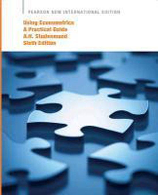 Boek cover Using Econometrics: Pearson  International Edition van A. H. Studenmund (Paperback)