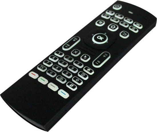 MX3 Air Mouse / Flymouse met backlight toetsenbord - Ideaal als afstandsbediening voor Android TV Box mediaspeler of jouw PC - MX3