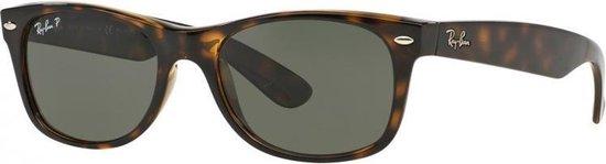 Ray-Ban RB2132 902/58 - zonnebril - New Wayfarer (Classic) - Tortoise/Green - Polarized - 58mm