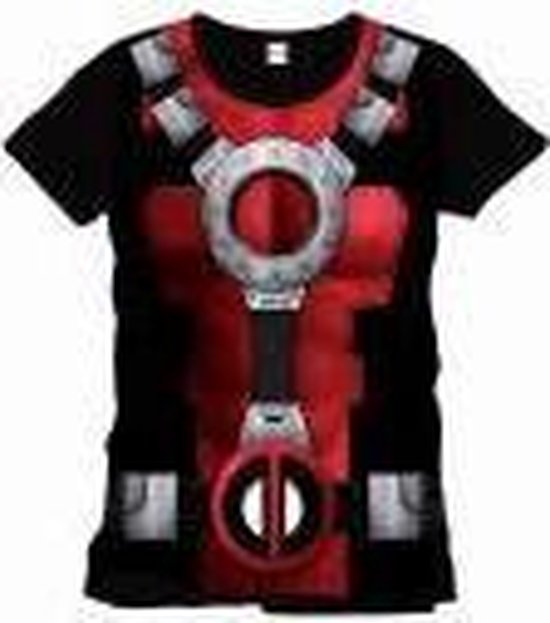 Deadpool - Costume Mannen T-Shirt - Zwart - XL