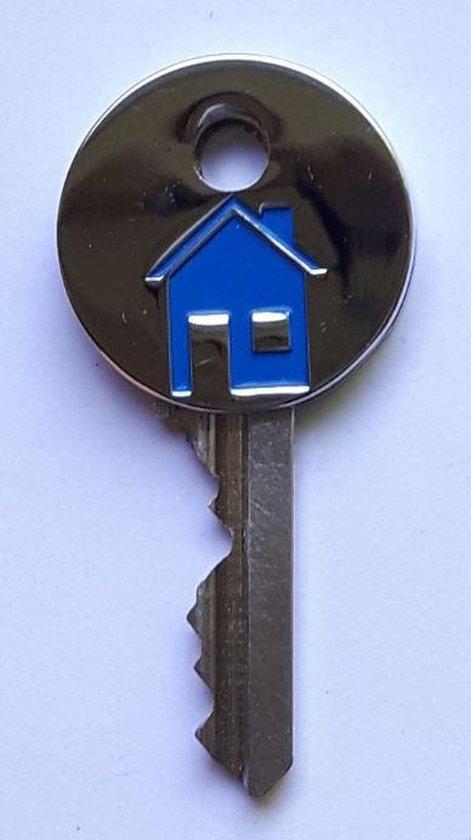 LeuksteWinkeltje sleutelhoesje Huis - RVS