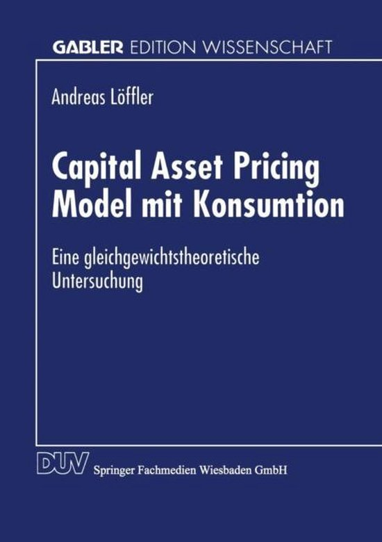 Capital Asset Pricing Model Mit Konsumtion