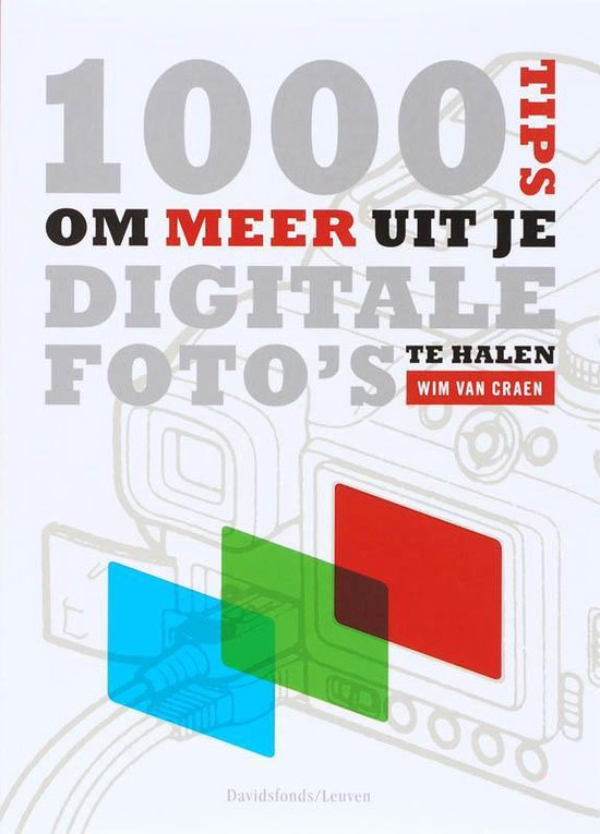 Cover van het boek '1000 tips om meer uit je digitale foto's te halen' van W. van Craen en W. Craen