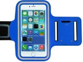 Xssive Sport armband universeel voor o.a. Motorola Moto C Plus - Blauw