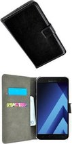 Samsung Galaxy A3 2017 Hoesje P Wallet Bookcase Zwart