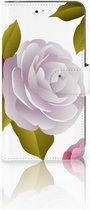 Motorola Moto C Plus Uniek Wallet Book Case Hoesje Roses