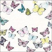 Servetten 33x33cm Butterfly