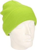 Basic winter muts Lime groen