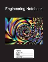 Engineering Notebook 8.5 x11 100 Pages Graph Paper Fractal Edition