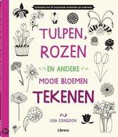 Tulpen, rozen en andere mooie bloemen tekenen