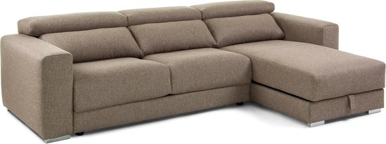 Kave Home - Atlanta 3-zitsbank chaise longue bruin 290 cm