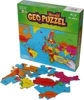 GEOToys Geopuzzel Wereldkaart - 68 puzzelstukjes