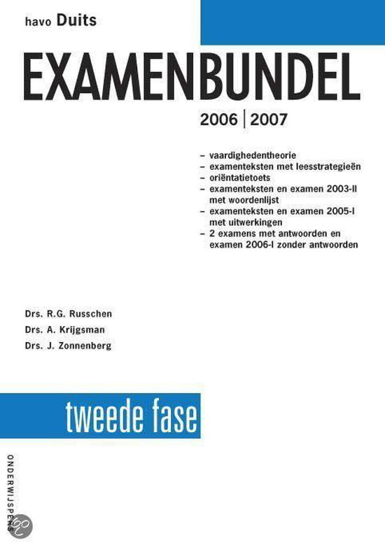 Havo Duits Examenbundel 2E Fase - R.G. Russchen |