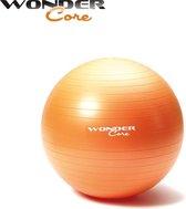 Wonder Core Anti-Burst Fitnessball 65 cm Oranje - Fitness bal - Gym Ball - Swiss Ball - Fitnessaccessoire