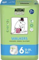 Eco Muumi Baby luierbroekjes maat 6 - 12-20 kg - 36 stuks - ecologisch