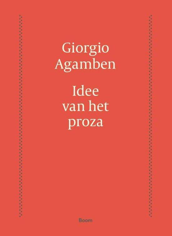 Idee van het proza - Giorgio Agamben   Fthsonline.com