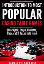Introduction to Most Popular Casino Table Games