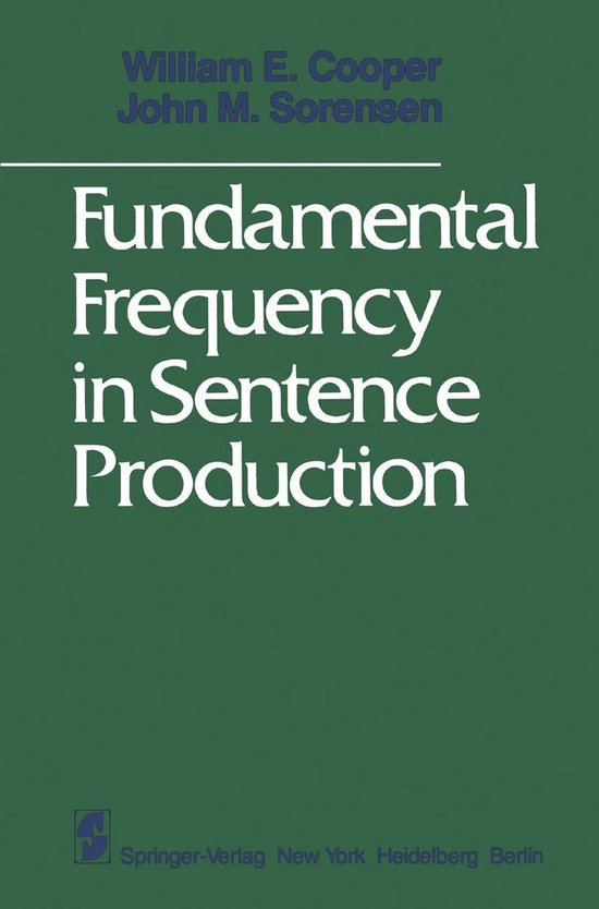 Fundamental Frequency in Sentence Production