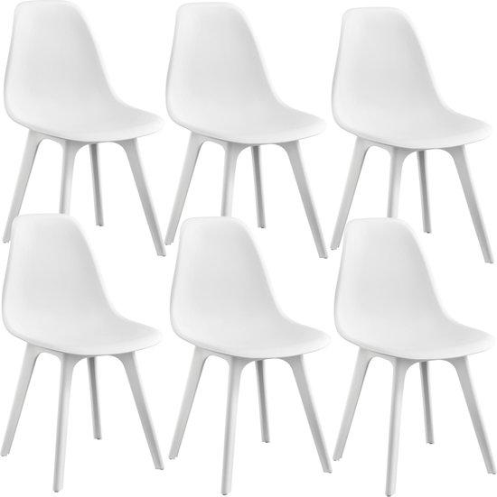 6 Witte Design Stoelen.Bol Com Design Stoel Lendava 6 Stuks Set Wit