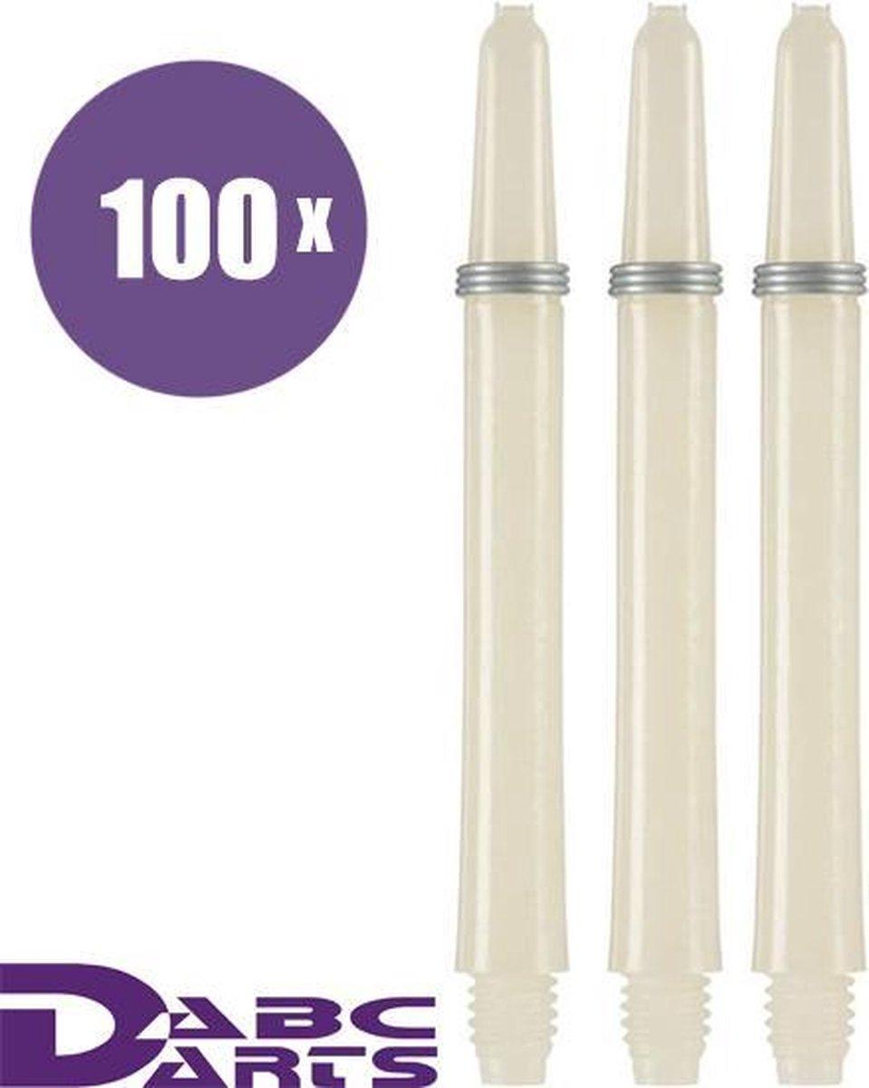 ABC Darts - Dart Shafts - Kunststof Naturel - Medium - 100 sets