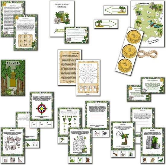 Thumbnail van een extra afbeelding van het spel Speurtocht voor kinderen - Het geheim van de jungle  - 7 t/m 10 jaar - kinderfeestje - speurtocht - speurpakket