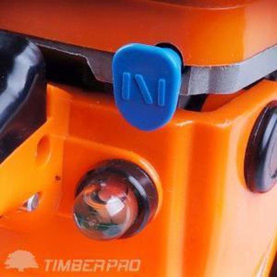 Timberpro Benzine Kettingzaag - 62 cc - Zwaardlengte 50 cm - Met transportzak - Met 2e ketting