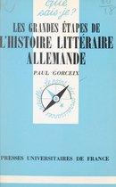 Les grandes étapes de l'histoire littéraire allemande
