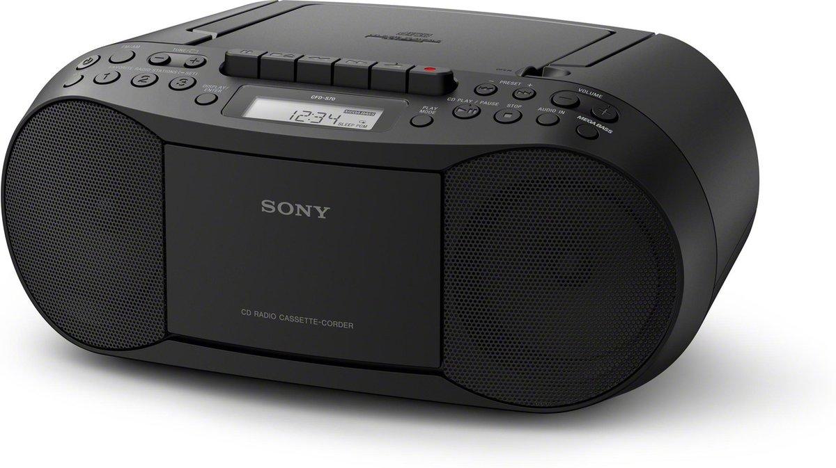 Sony CFD-S70 - Radio/cd-speler - Zwart