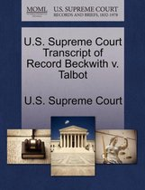U.S. Supreme Court Transcript of Record Beckwith V. Talbot