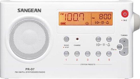 Sangean PRD7PACK - Draagbare radio met adapter - Wit