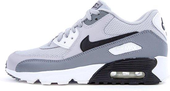 Nike Air Max 90 Sneakers Kinderen - grijs/zwart/wit - Maat 39
