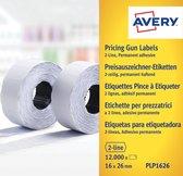 Avery etiketten voor prijstang permanent