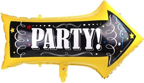 Folie helium ballon Party Pijl Sign 82cm