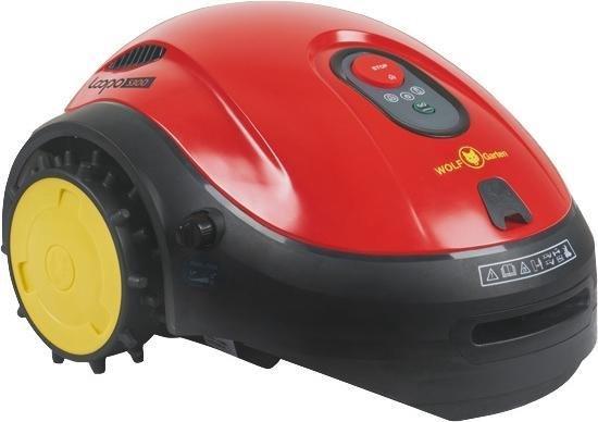 LOOPO S300 Robotgrasmaaier Zwart, Rood, Geel Batterij/Accu