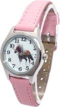 Pony / paarden horloge - roze - 20 mm - I-deLuxe verpakking