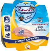 Renske Vers vlees maaltijd - Kip - Graanvrij - 8 stuks à 100 gram