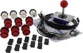 ArcadeWinkel Arcade starterspakket 1 speler (drukknoppen, joystick, mini controller, kabelset) met Zippy 20 gr Microswitches
