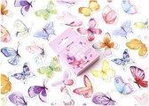 Afbeelding van Stickerset Vlinders - Set met 46 stickers Butterfly