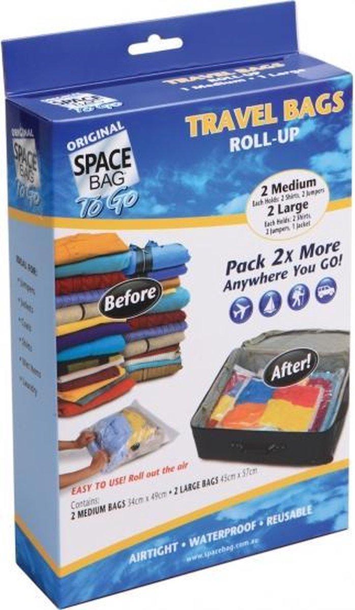 Space Bags Vacuümzakken - Travel - Klein - 4 stuks - Merkloos