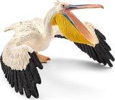Plastic speelgoed figuur witte pelikaan