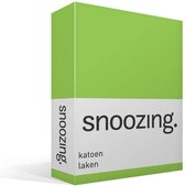 Snoozing - Laken - Katoen - Lits-jumeaux - 280x300 cm - Lime