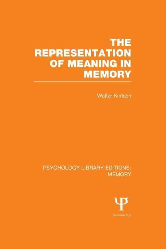 The Representation of Meaning in Memory (PLE